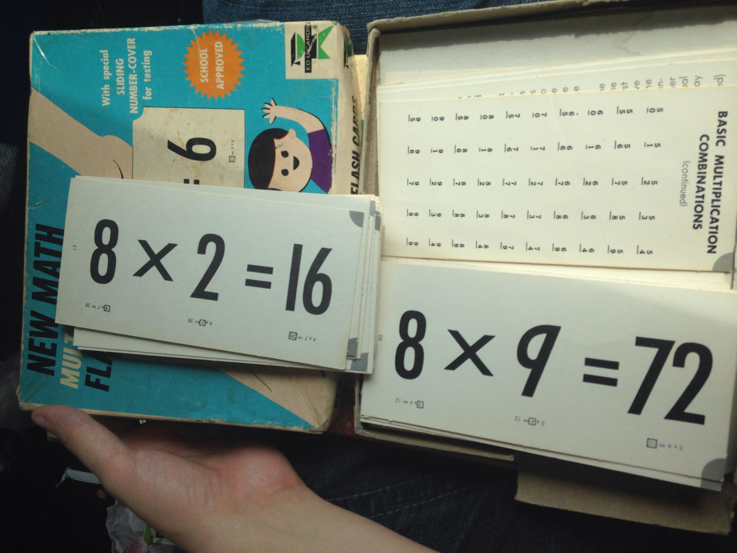 New Math Multiplication Flash Cards Vintage 1966 Ed U Cards Educards  Ed-U-Cards Educational Flash Card Game Soldlittlekittencreations