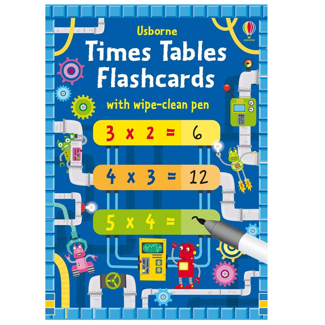 1-12 Times Tables Flashcards