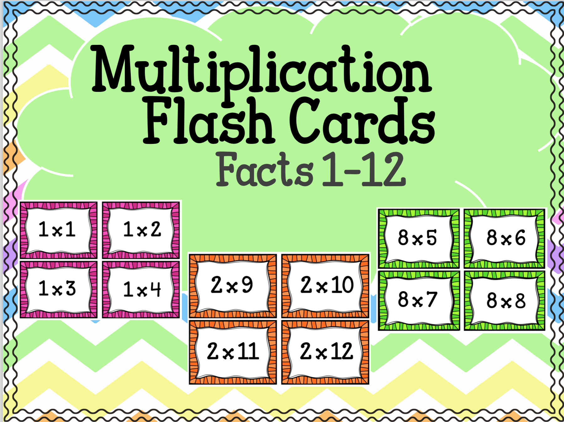 $1- Help Your Students Master Their Multiplication Facts