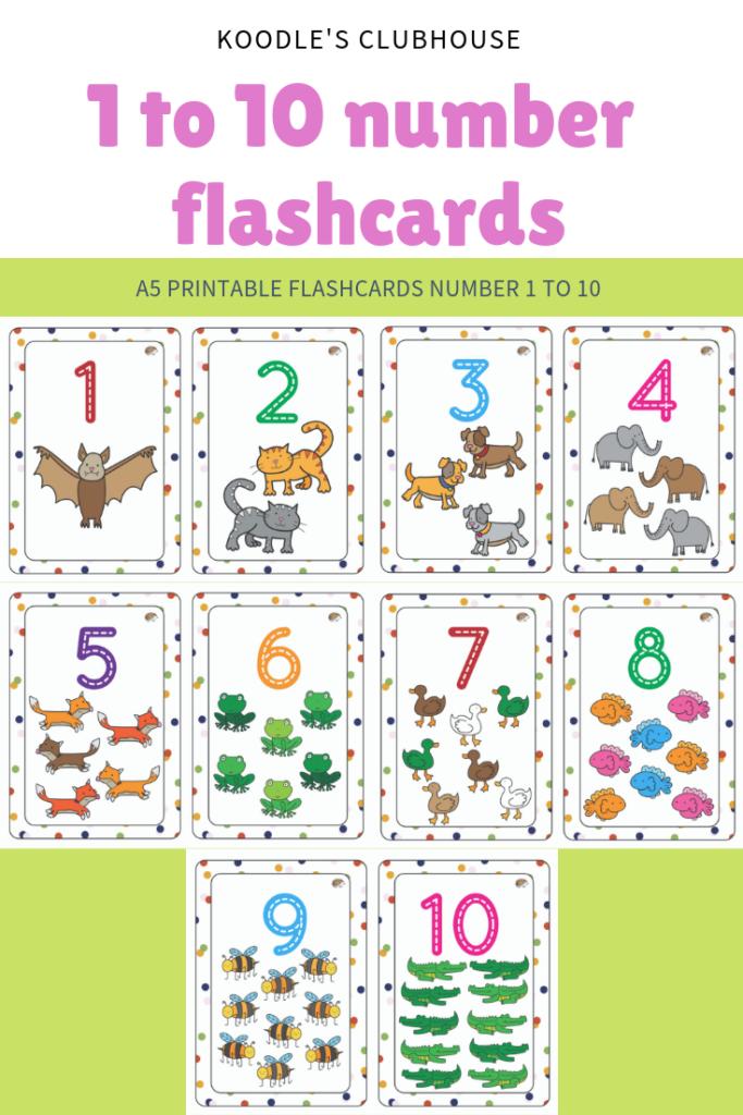 1 To 10 Flashcards | Number Flashcards, Flashcards