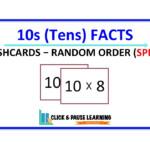 10S Facts Multiplication   Flashcards   Random Order   Speed