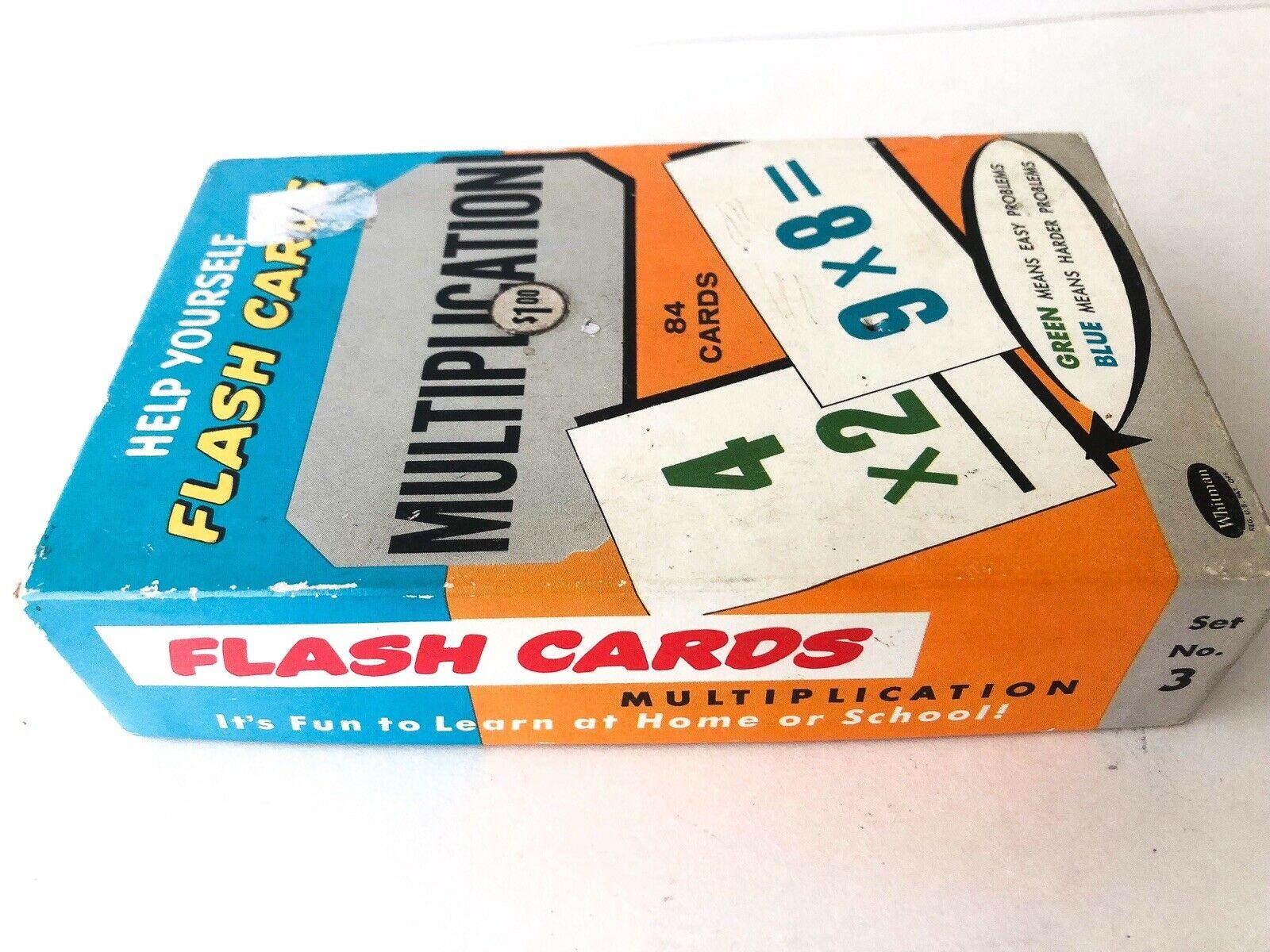 1959 Vintage Help Yourself Multiplication Flash Cardswhitman ~ No. 4743