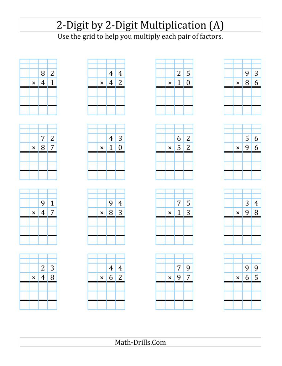 2-Digit2-Digit Multiplication With Grid Support (A)