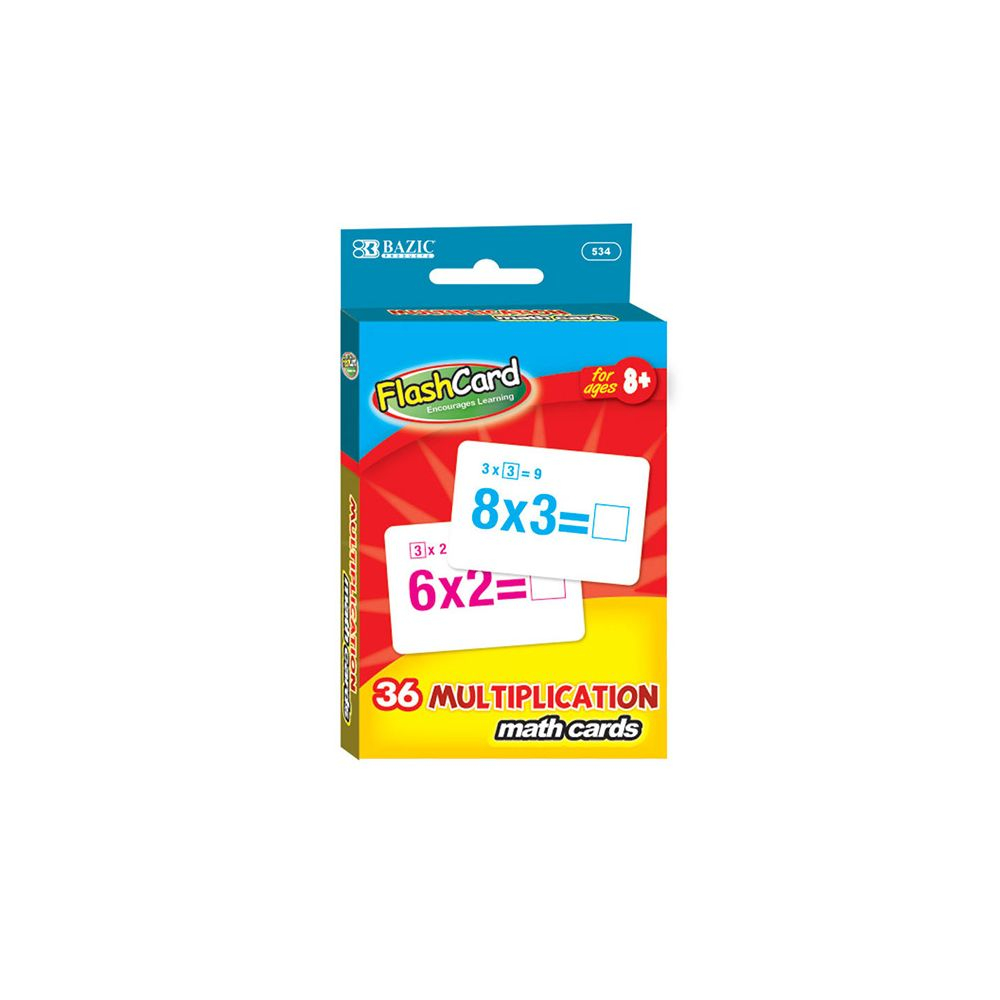 24 Bulk Multiplication Flash Cards (36/pack) - At
