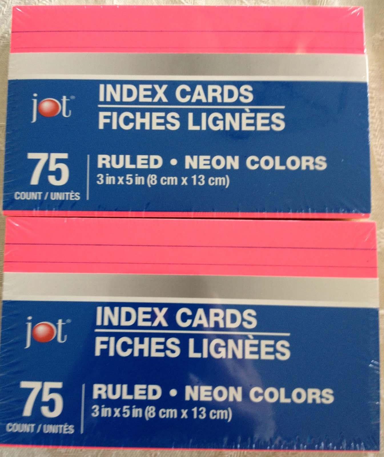 300 Index Cards: Index Cards At Dollar Tree
