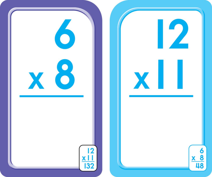 Multiplication Flash Cards Printable 0-12 With Answers