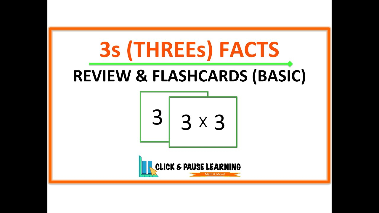 3S Facts Multiplication Review And Flashcards - Youtube