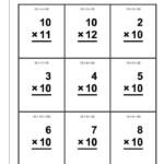 42 Printable Math Flash Cards Multiplication In 2020 | Math
