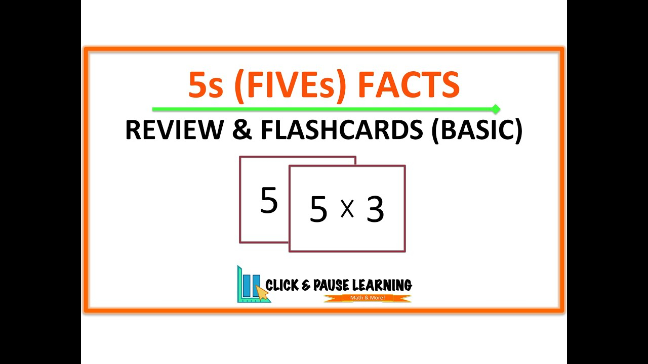 5S Facts Multiplication Review And Flashcards - Youtube