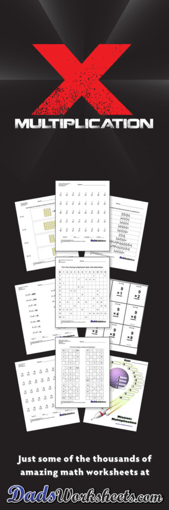 844 Free Multiplication Worksheets For Third, Fourth And