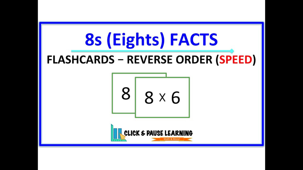 8S Facts Multiplication   Flashcards   Reverse Order   Speed
