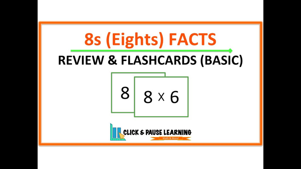 8S Facts Multiplication Review And Flashcards   Youtube