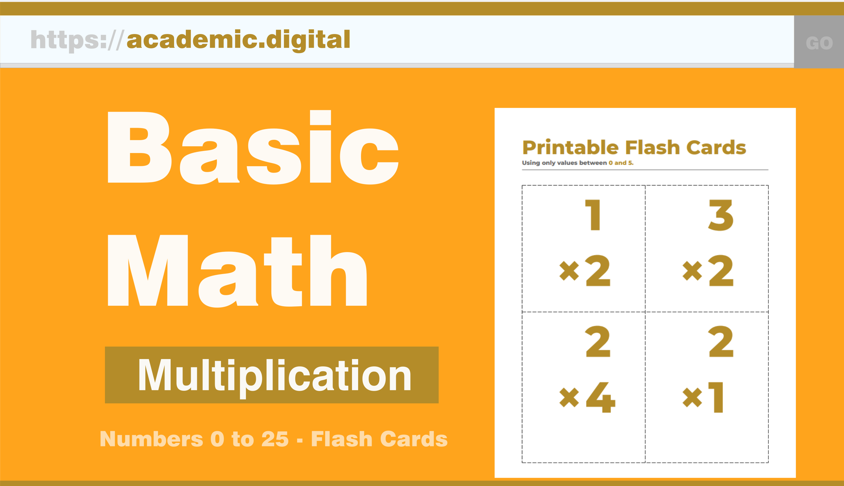 Academic.digital – K-6 Printable Math Worksheets, Flash