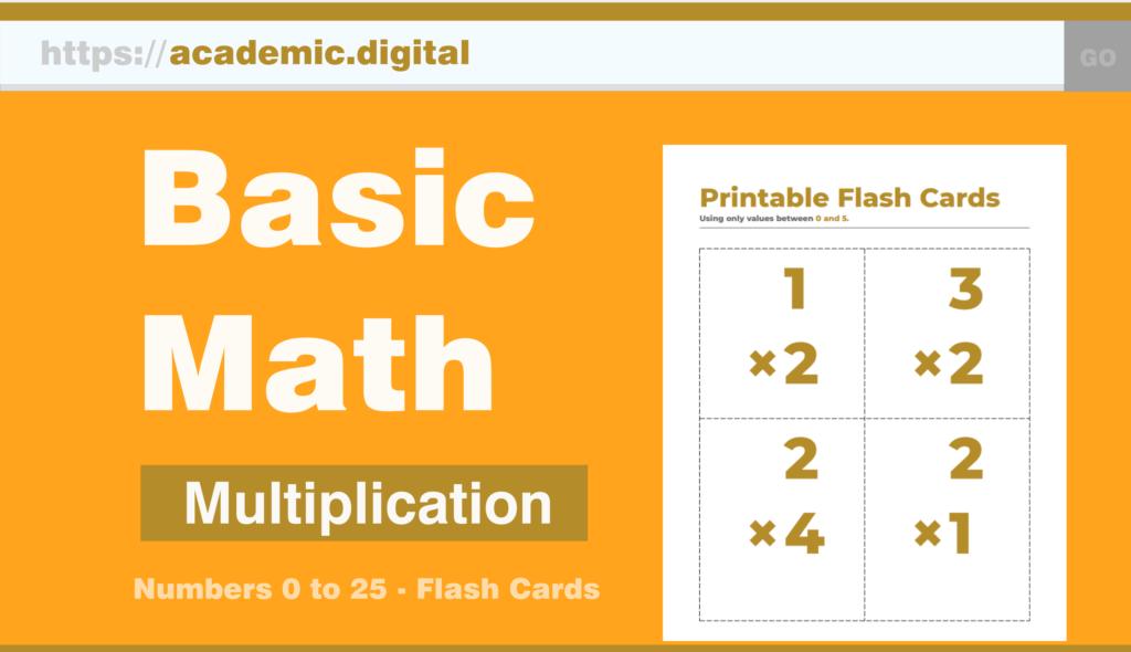 Academic.digital – K 6 Printable Math Worksheets, Flash