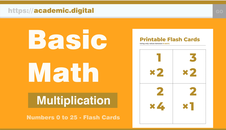 Academic.digital – K-6 Printable Math Worksheets, Flash