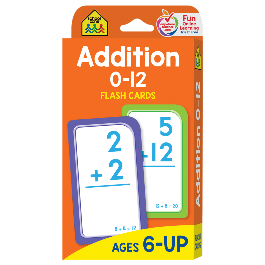 Addition 0 12 Flash Cards