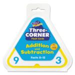 Addition/subtraction Three Corner Flash Cards, 6 & Up, 48/set