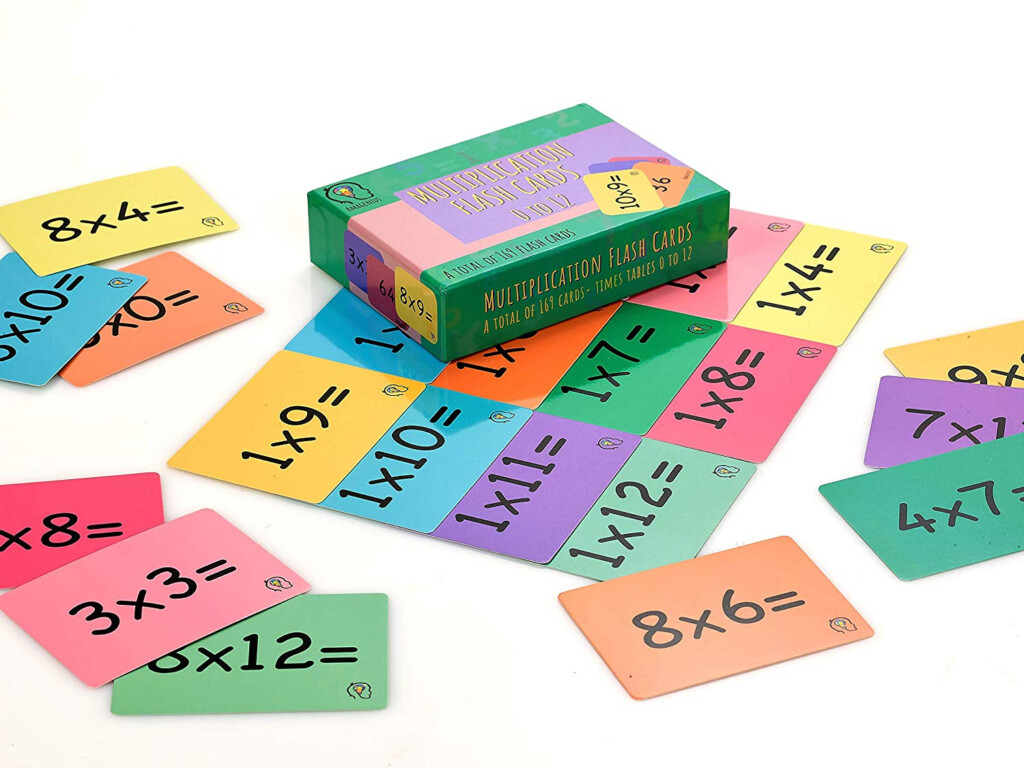 Amagenius Times Table Flash Cards, One Set Of 169