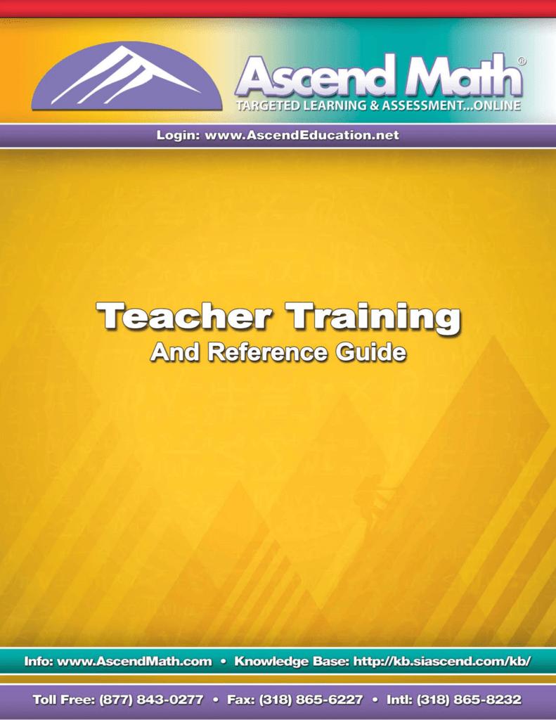 Ascend Teacher Guide