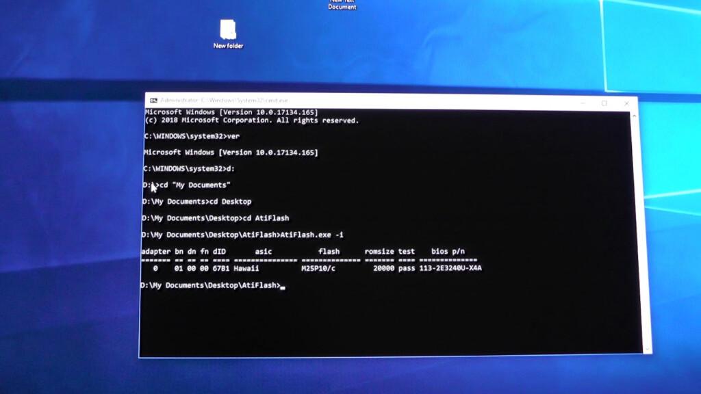 Atiflash That Works With Windows 10 (1803   2004 Version)