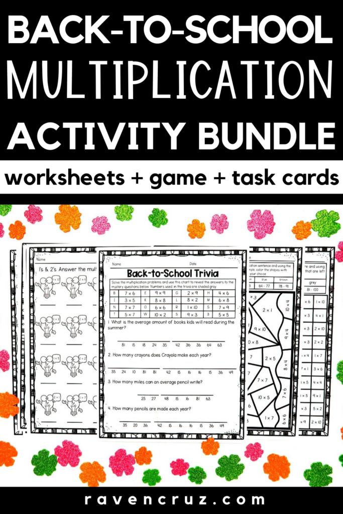 Back To School Math Multiplication   Math, Multiplication
