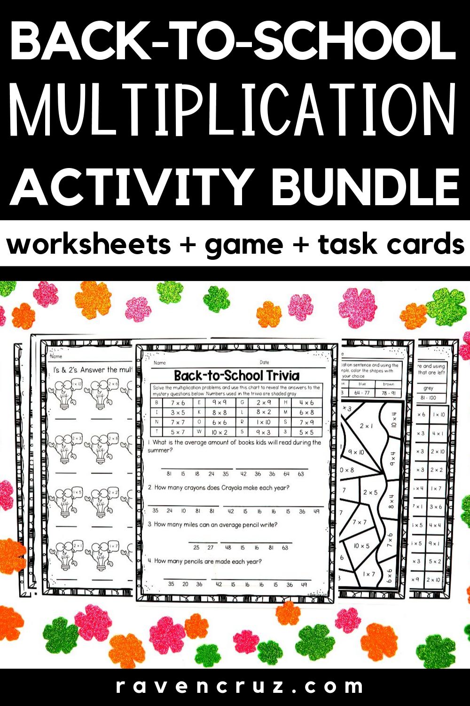 Back To School Math Multiplication | Math, Multiplication
