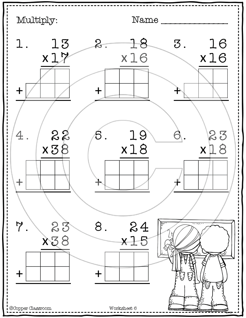 Basic 2-Digit2-Digit Multiplication With Regrouping