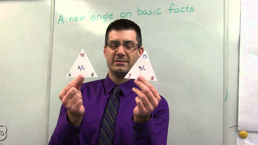Basic Facts With Triangular Flashcards