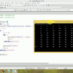 C Programming   Multiplication Table Using Nested Do While Loop