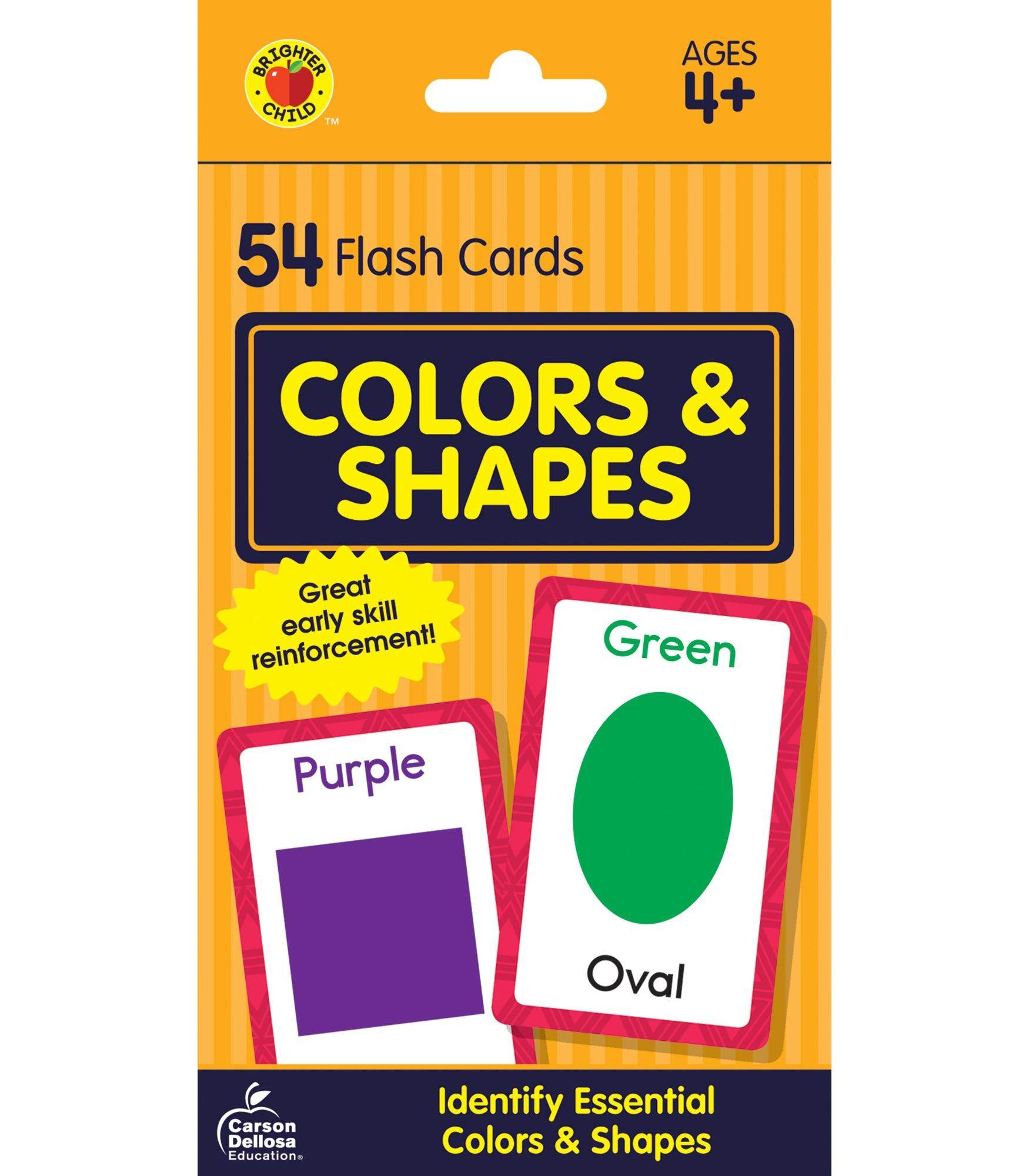 Carson Dellosa | Colors And Shapes Flash Cards | Preschool