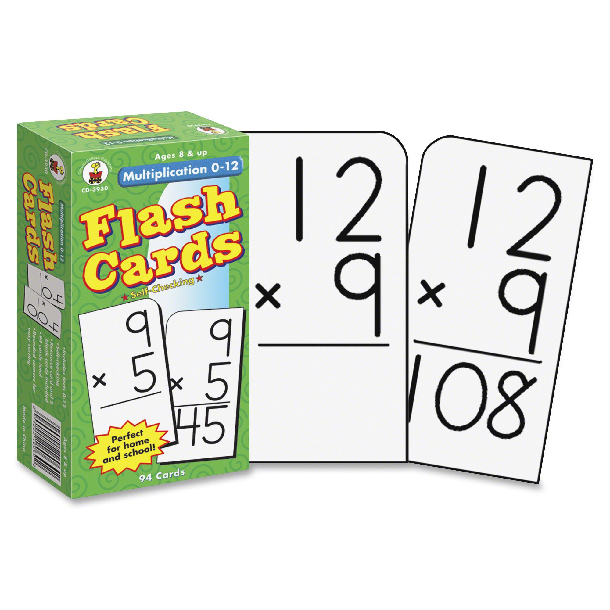 Carson Dellosa Education Grades 3-5 Multiplication 0-12 Flash Cards - Math