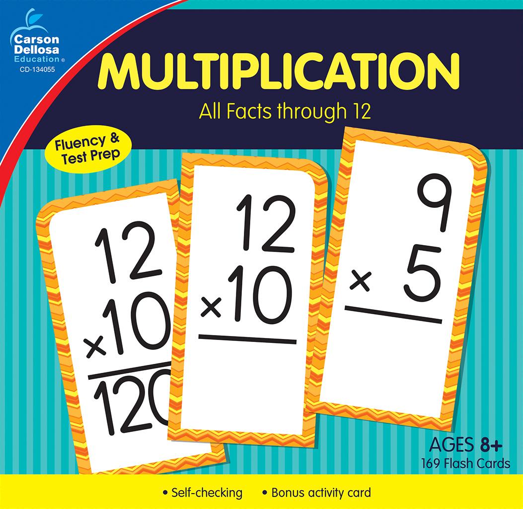 Carson Dellosa - Multiplication Flash Cards, All Facts Through 12, 170Ct