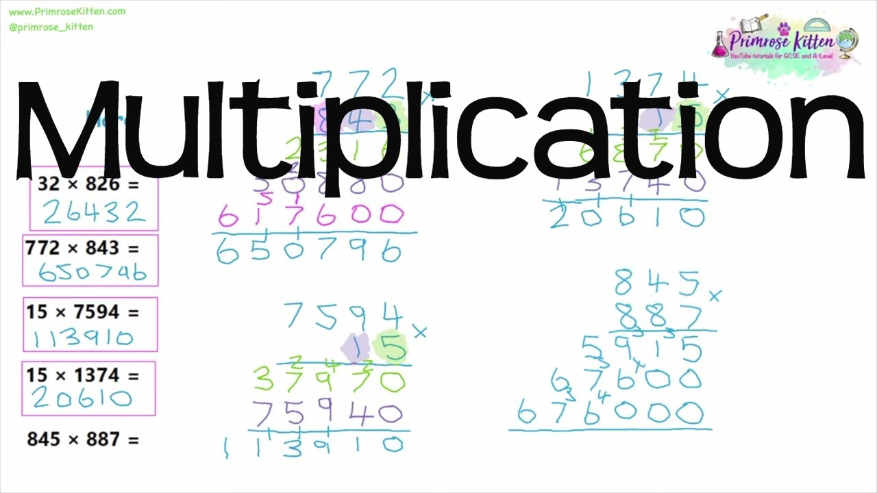 Column Integer Multiplication (Long Multiplication) | Revision For Maths  Gcse And Igcse