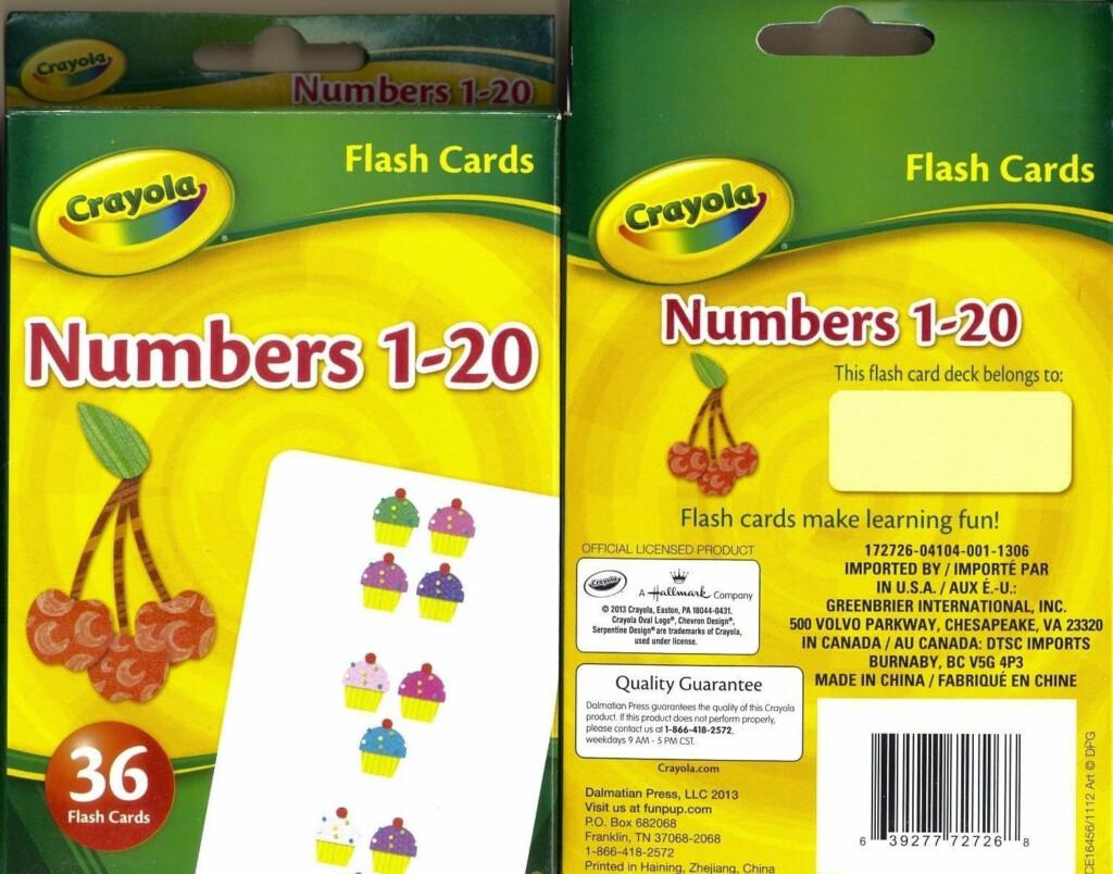 Crayola Flash Cards 36Ct Bundled Set Of 4 Numbers Colors Phonics Match Fast  Ship