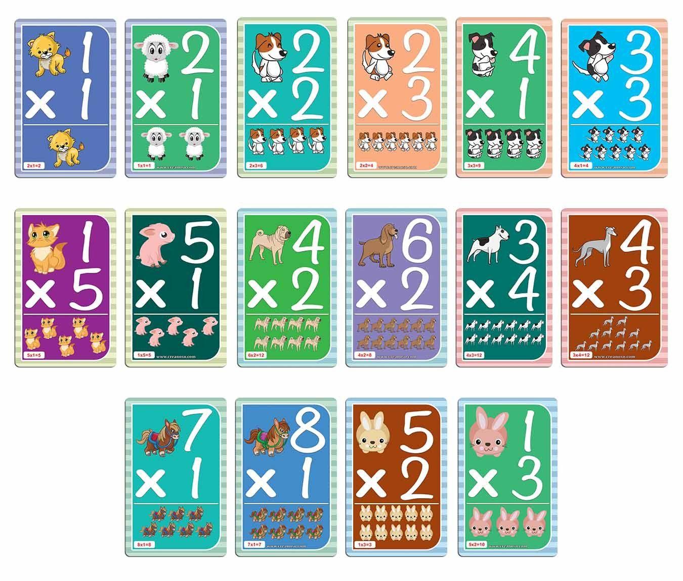 Creanoso Cute Animals Learning Multiplication 0-12 Flash