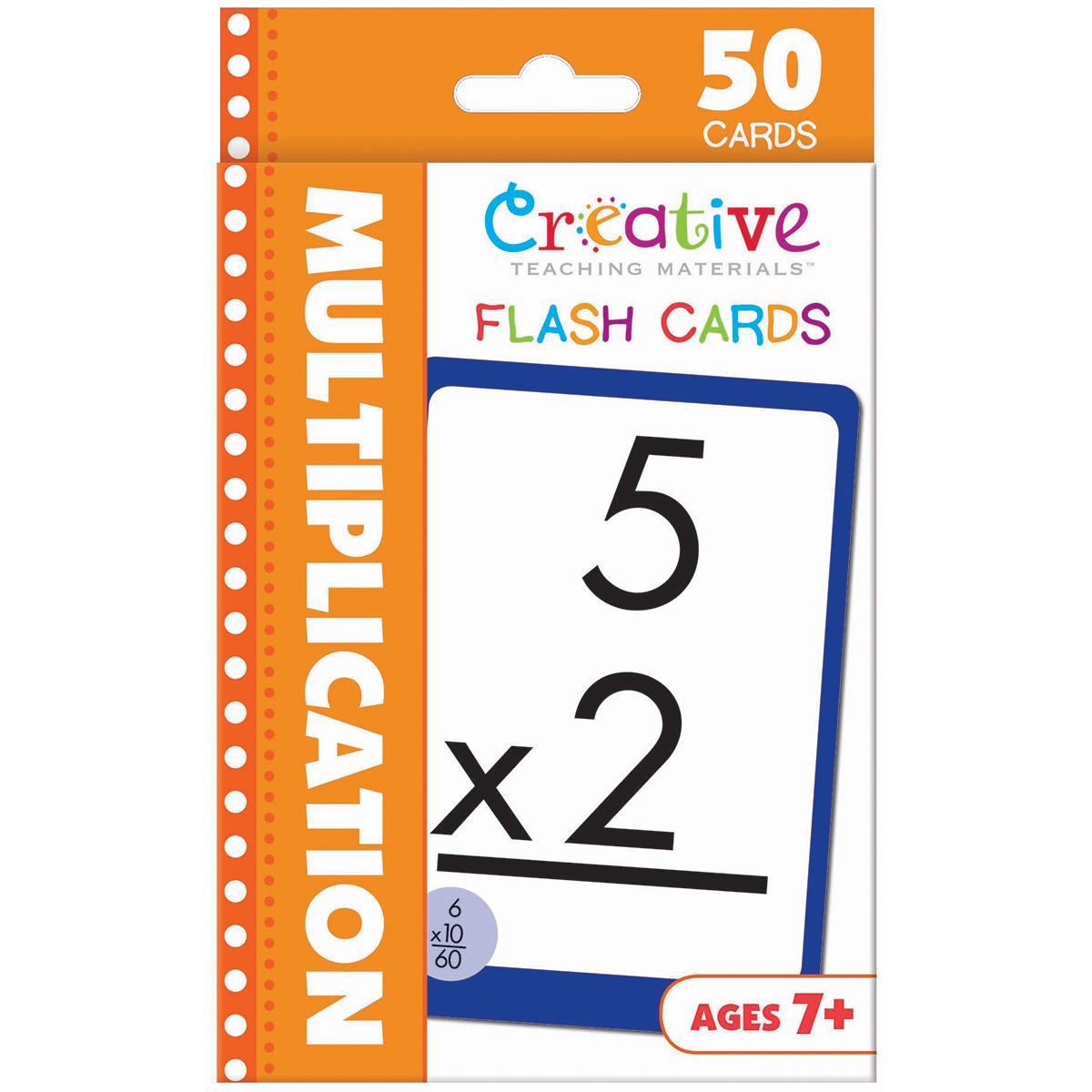Creative Teaching Materials Flash Cards-Multiplication 50/pkg - Walmart