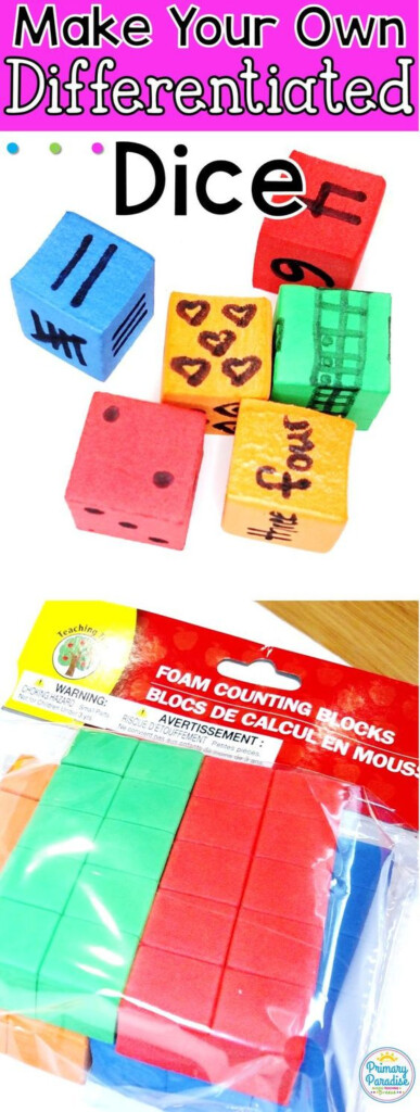 Differentiate Your Math Lesson With Diy Dice Using This