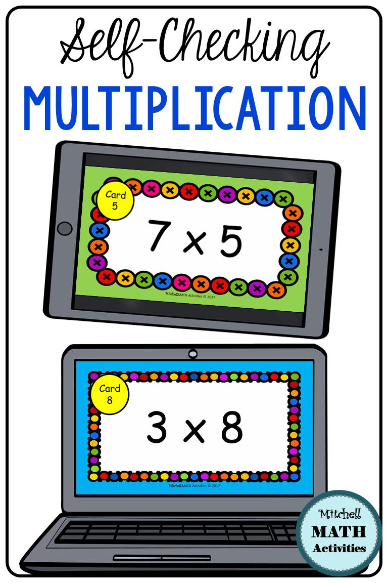 Digital Flash Cards For Multiplication Bundle Distance