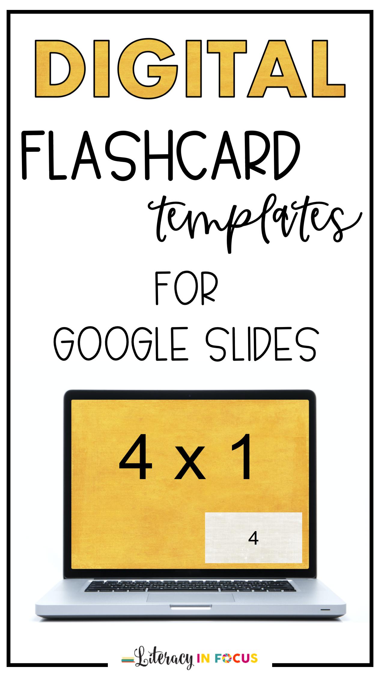 Digital Flashcard Templates For Google Slides In 2020
