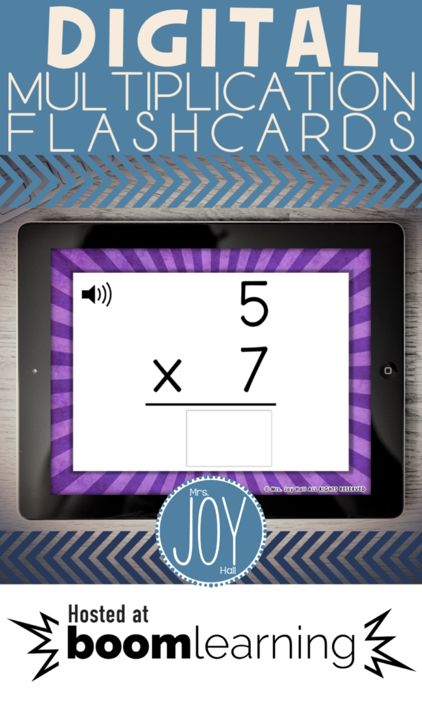 Digital Multiplication Fact Flashcards In 2020