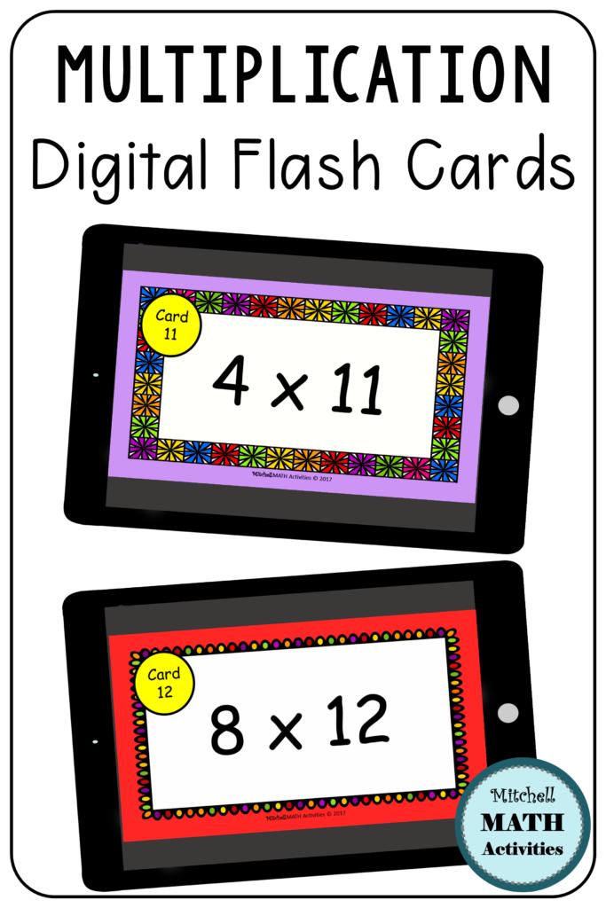 Digital Multiplication Flash Cards Bundle | Distance