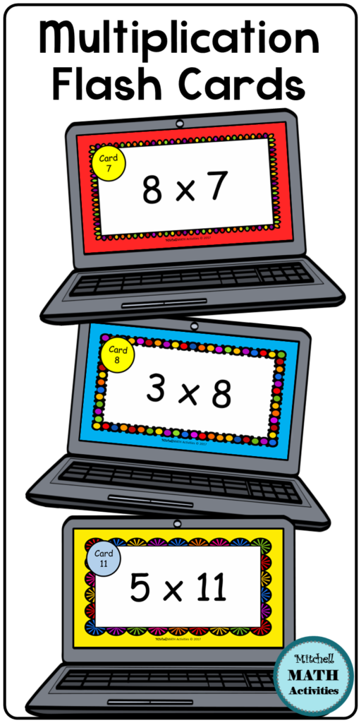 Digital Multiplication Flash Cards Bundle | Distance