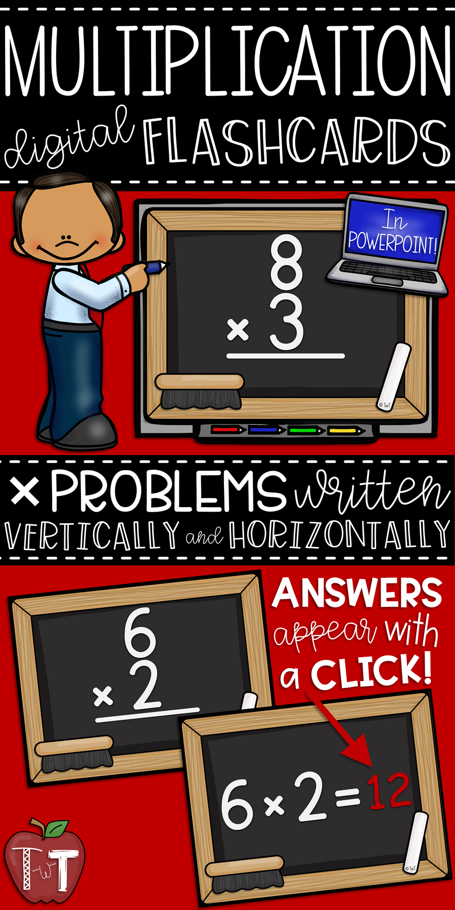 Digital Multiplication Flashcards In Powerpoint. Facts 0X0