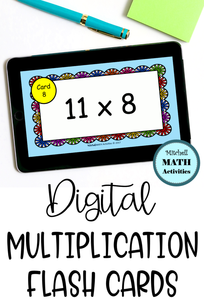 Digital Multiply11 Flash Cards In 2020 | Flashcards