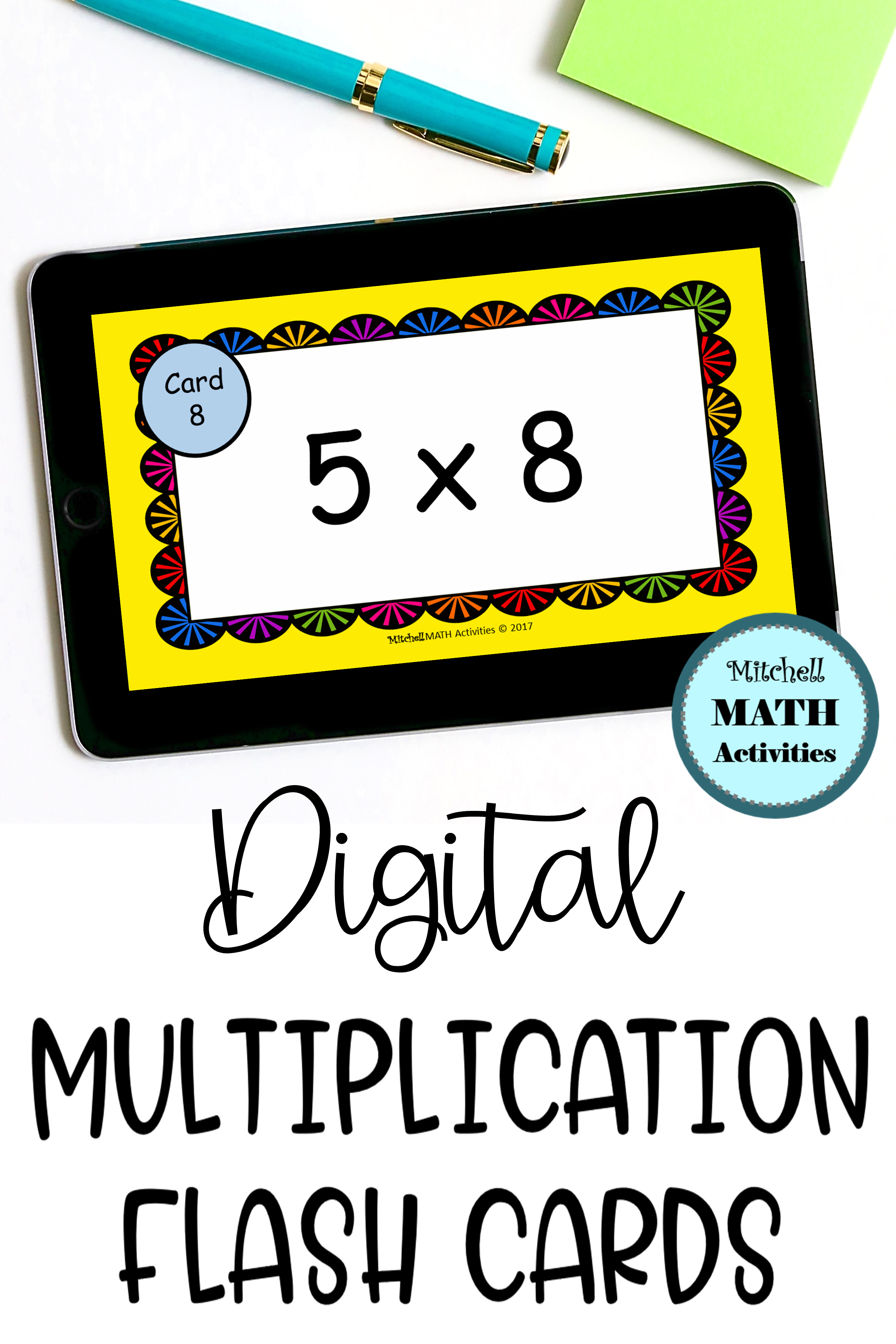 Digital Multiply5 Flash Cards | Distance Learning In