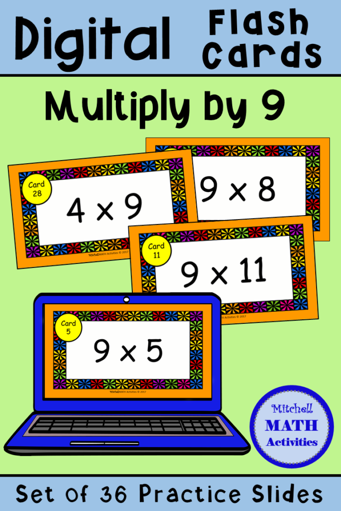Digital Multiply9 Flash Cards | Distance Learning