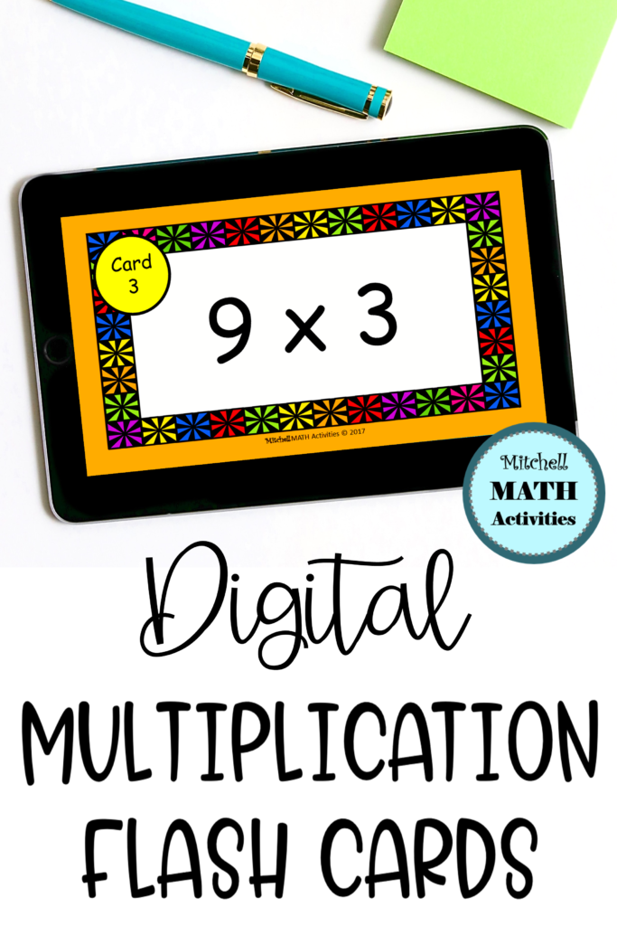 Digital Multiply9 Flash Cards | Distance Learning In