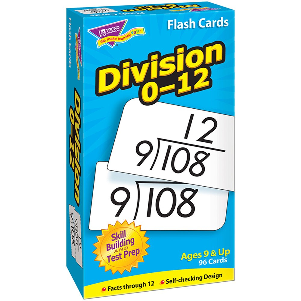 Division 0 12 Skill Drill Flash Cards