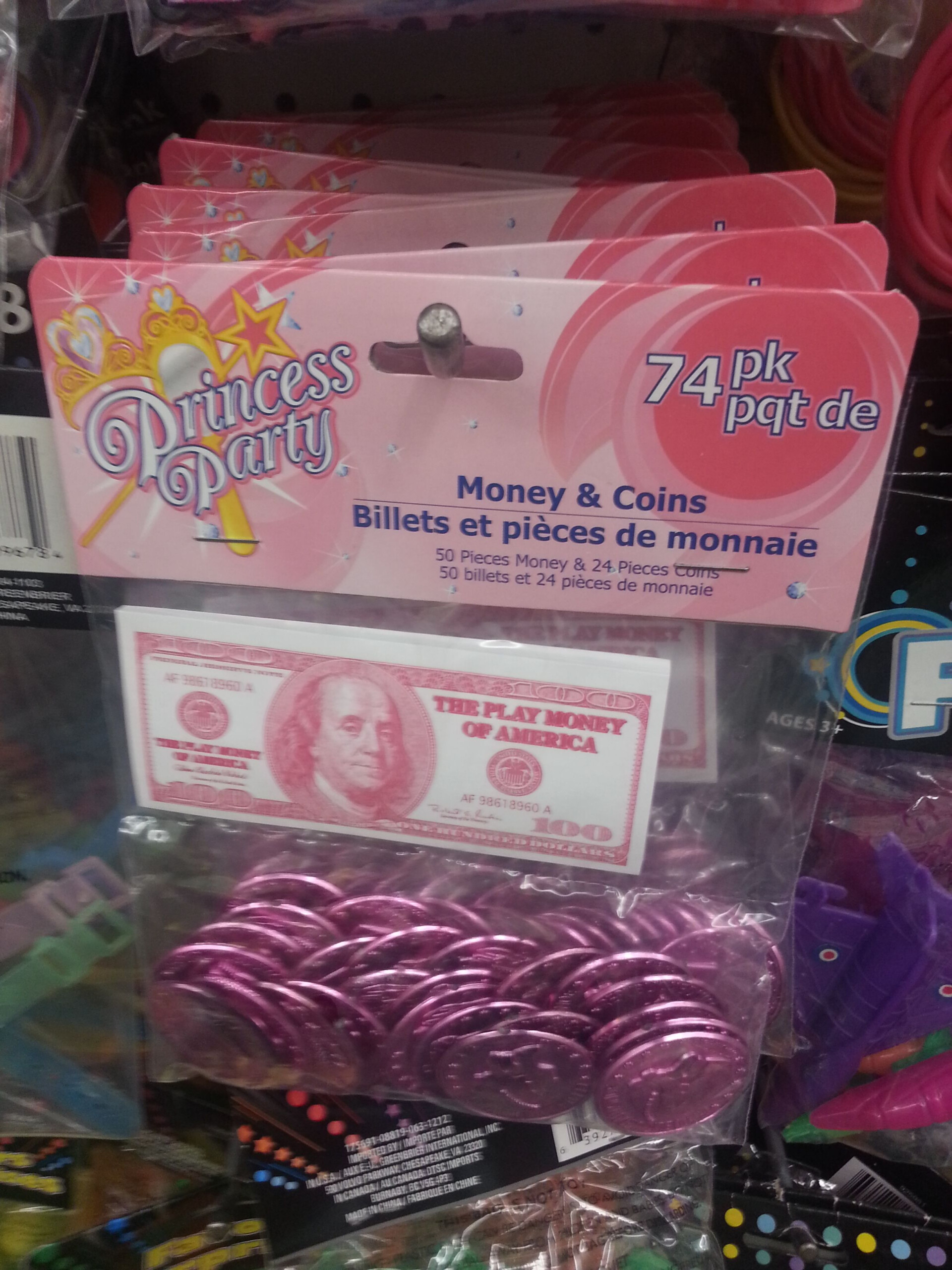Dollar Tree Fake Money And Coins - Great For Your Next