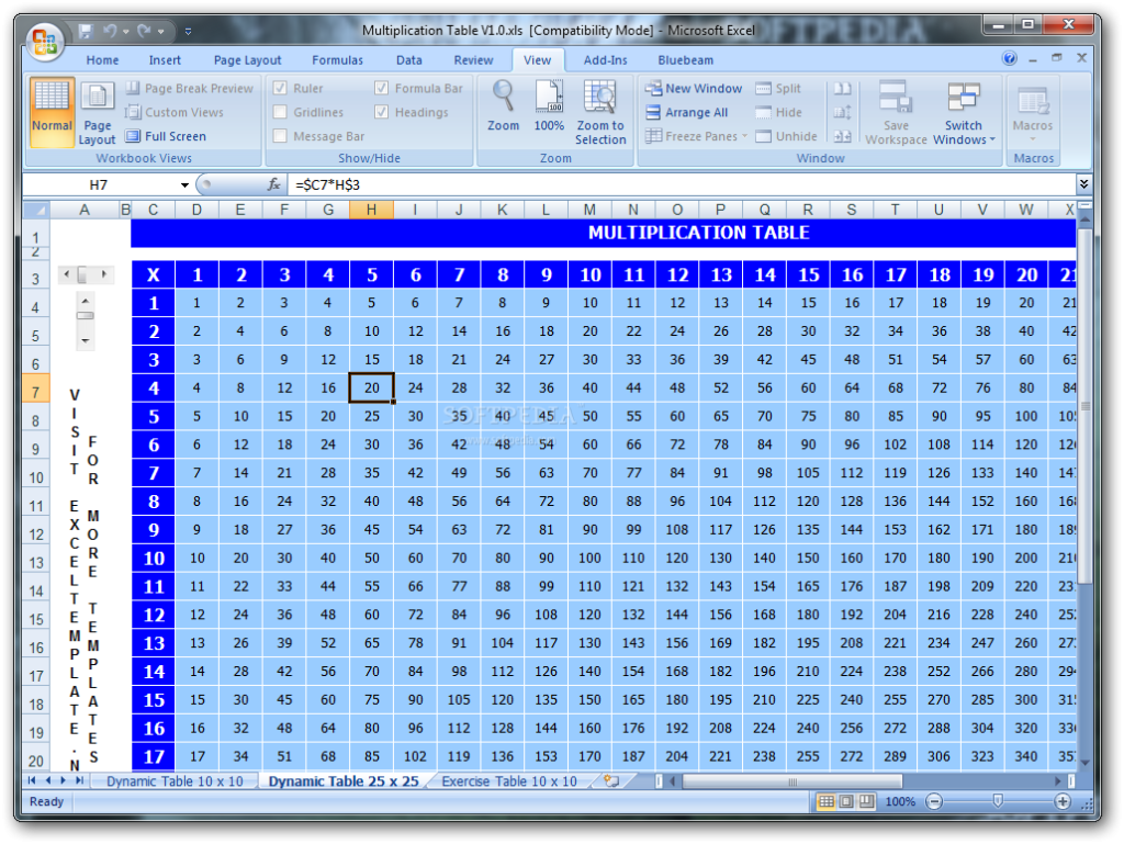 Download Multiplication Table 1.0